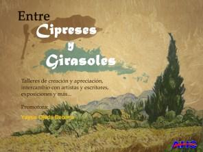 Cartel Proyecto Entre Cipreses y Girasoles