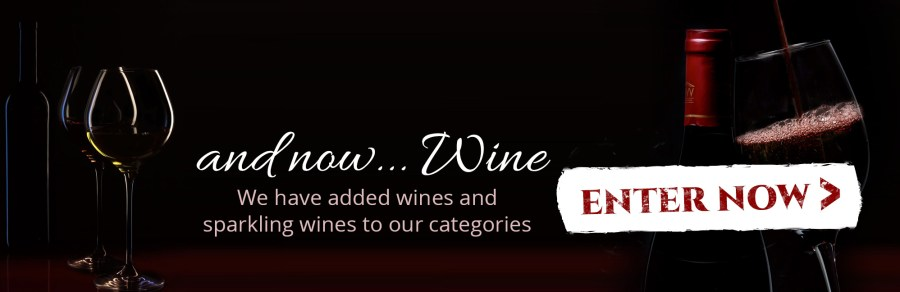 and now...wine. We have added wines and sparkling wines to our categories
