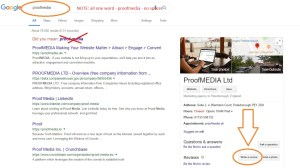 ProofMEDIA Google My Business Review Request Page