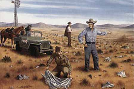 crash fields of Roswell