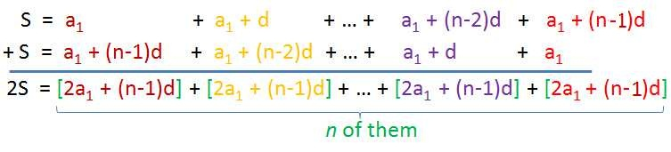 sum of arithmetic sequence pdf