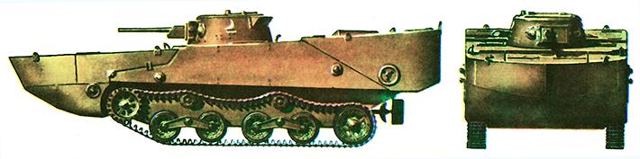 Японский плавающий танк «Ка-ми» образца 2