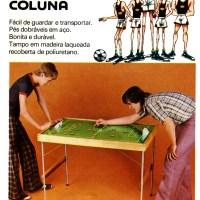 Mesa para futebol de botões Coluna (1978)