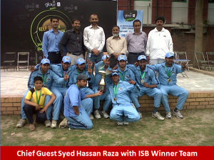 isb winner team 300x224 All Pakistan Glow Cricket Tournament Concludes