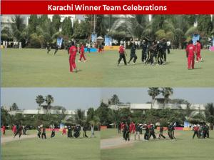 karachi team celebrations 300x224 All Pakistan Glow Cricket Tournament Concludes