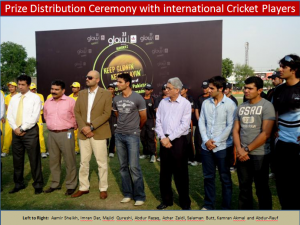 prize distribution ceremony 300x225 All Pakistan Glow Cricket Tournament Concludes