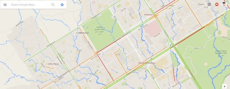 Live Traffic Feature on Google Maps is Finally Enabled for Pakistan Live Traffic Google Maps 03
