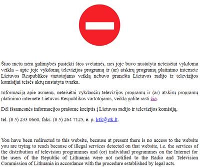 Litauen hat Sputnik geschlossen