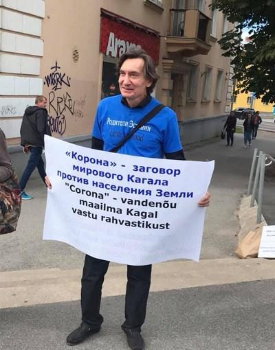 Sergei Tõdõjakov, ein Mann bei jedem Protest und jeder Demonstration