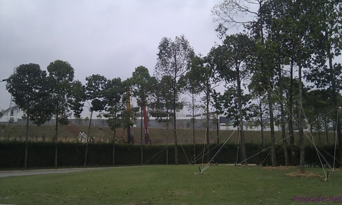 Actual Site. Behind Block A can see facing Setia Impian SMDs