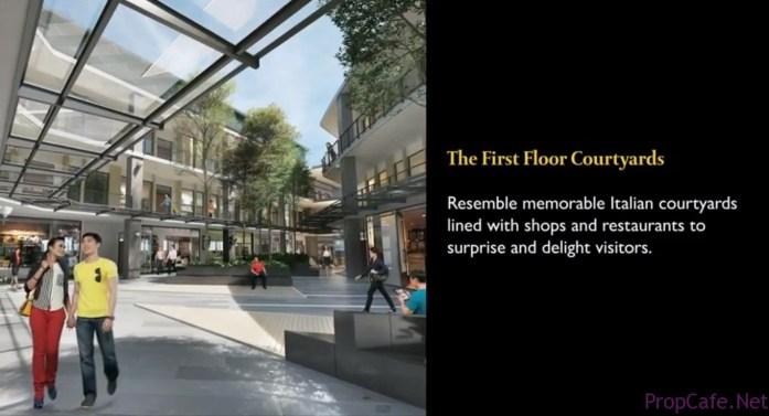 1st flr courtyard