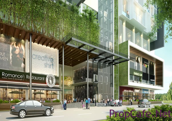 Place commercial entrance