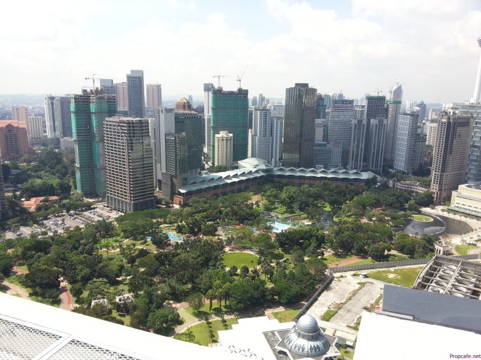 KLCC park view from Sky Lounge at 40th Storey.
