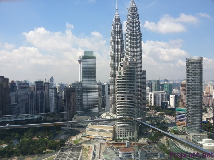 KLCC view from Sky Lounge