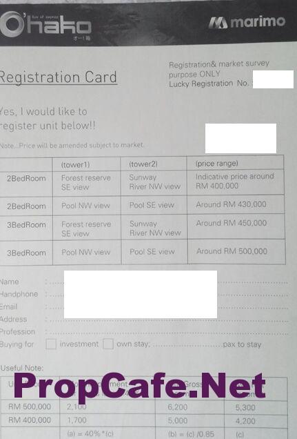 Ohako Registration Card