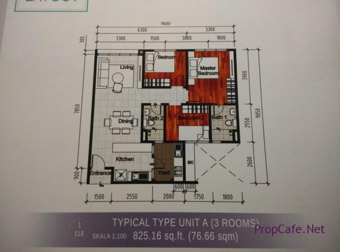 Casa Green Bukit Jalil Type A Layout