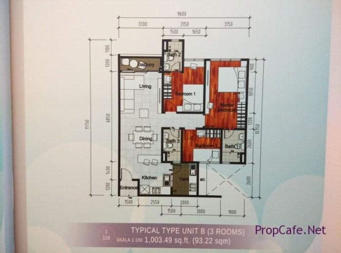 Casa Green Bukit Jalil Type B Layout