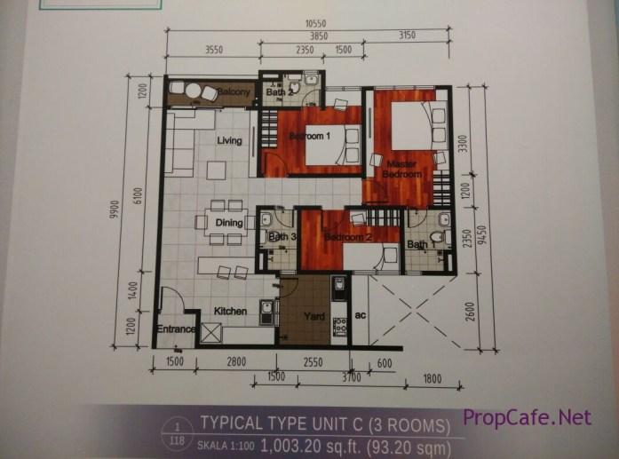Casa Green Bukit Jalil Type C Layout