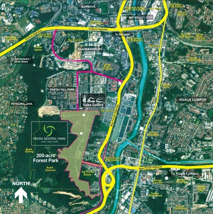 Pantai Sentral Park with 200 acre forest park