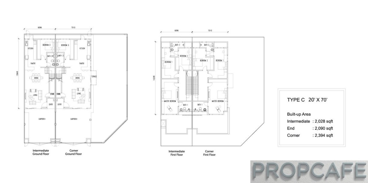 Bandar Rimbayu Penduline Type C Floor Layout