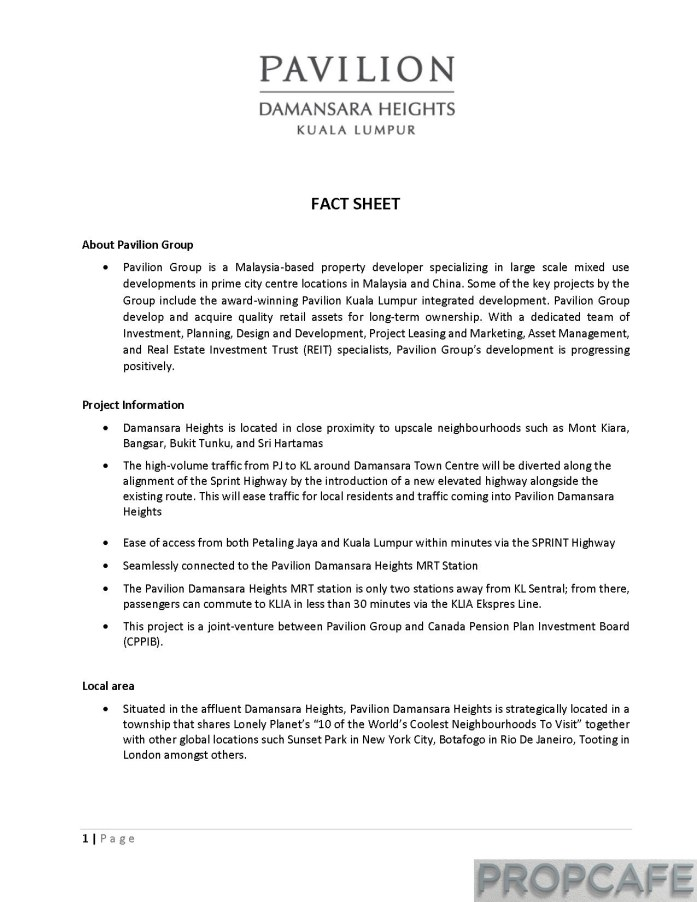 Pavilion Damansara Heights_Factsheet_Page_1