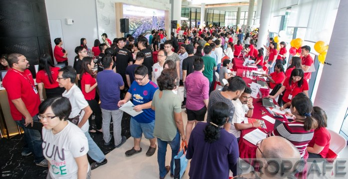 The overwhelming crowd at the Sunway Serene Sales Preview