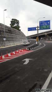 Elevated U Turn at EkoCheras bound to MRR2 towards Gombak and Jalan Ampang