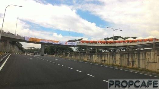 Elevated U Turn at EkoCheras bound to MRR2 towards Gombak and Jalan Ampang
