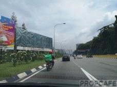 Along Jalan Kuching