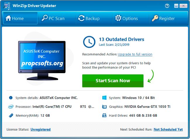 WinZip Driver Updater License Key
