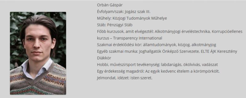 Kiderült, Orbán Gáspár is egy Soros-intézmény kurzusán tanult