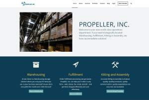 Redesign of the Propeller, Inc homepage. This has a focus on our Warehousing services
