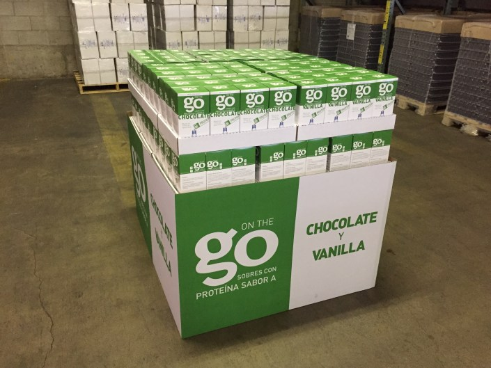 store display from pallet packaging