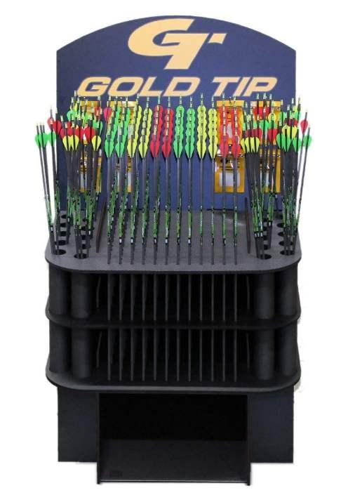 Goldtip arrows POP display.