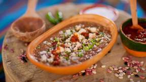 MEXICAN Pinto bean soup (sopa de frijol)