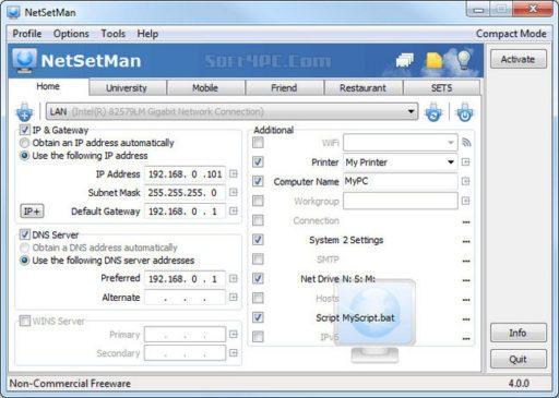NetSetMan Pro 4.7.2 with Crack