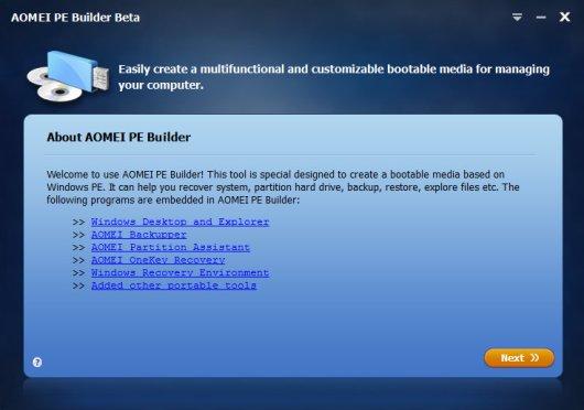 AOMEI OneKey Recovery 1.6.2 Screenshot 2