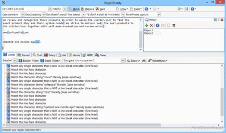 RegexMagic 2.9.0 Screenshot 2