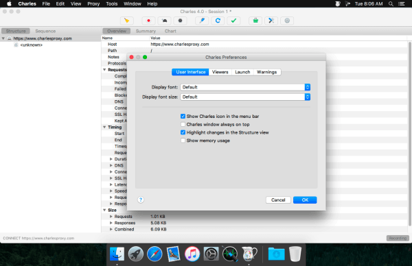 Charles Web Debugging Proxy Screenshot 2
