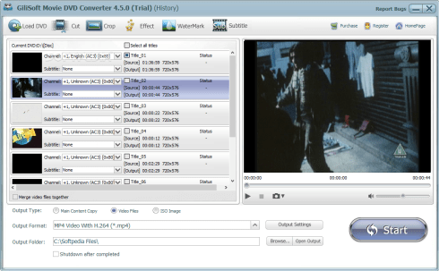 Gilisoft Movie DVD Converter 5.1 Screenshot 1