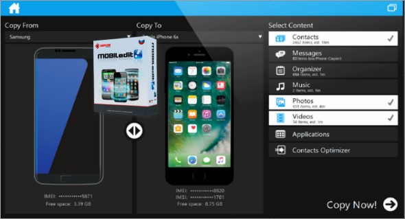 MOBILedit Phone Copier Express 4.5 Screenshot 1
