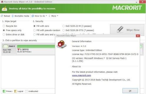 Macrorit Data Wiper Screenshot 2