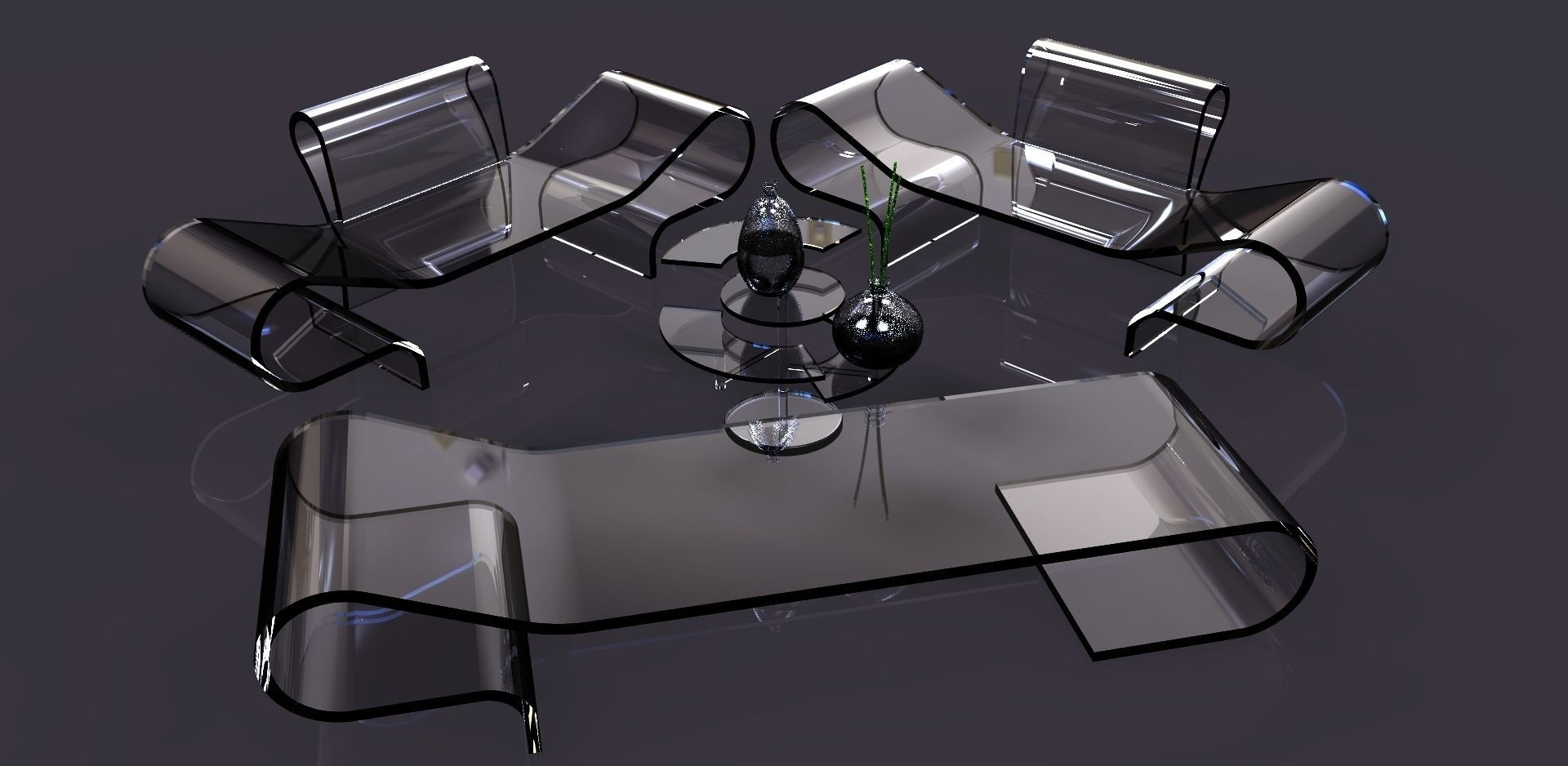 Transparent aluminum furniture