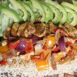 Fajita spiced chicken platter|properfoodie.com