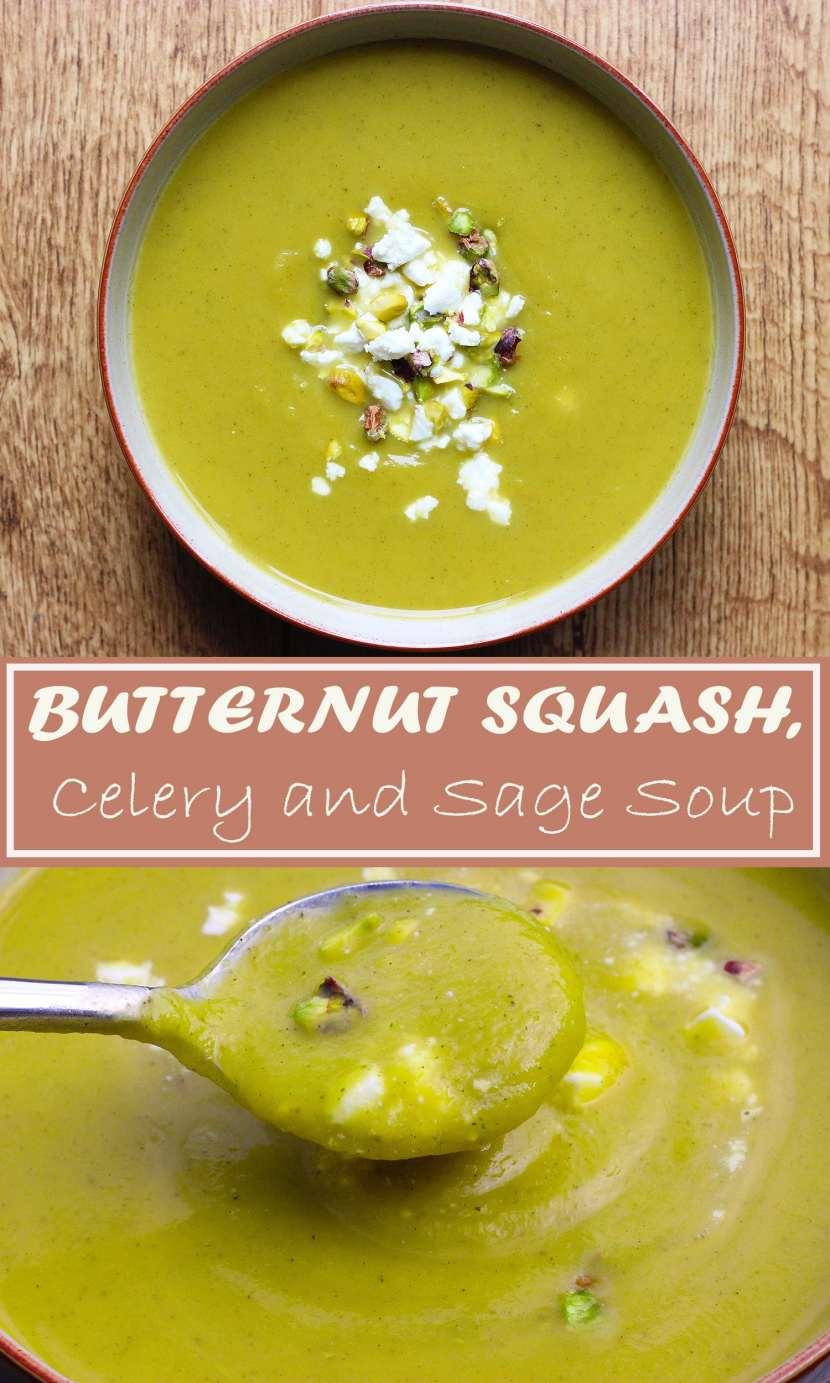 Butternut squash, sage & celery soup
