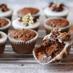 christmas cake muffins iced bite taken | Properfoodie