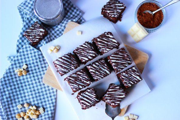 chocolate brownies with hazelnut
