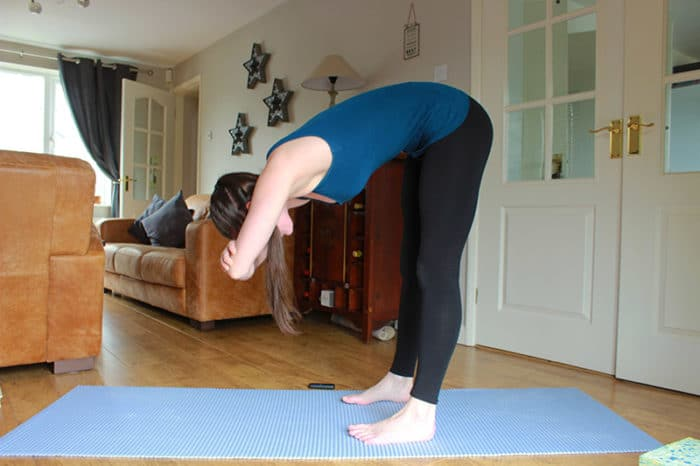 yoga relaxed bend