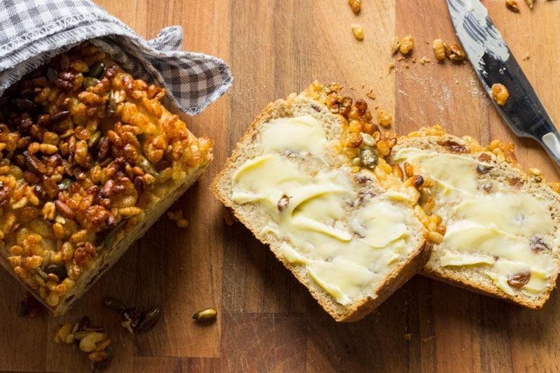 buttered breakfast loaf