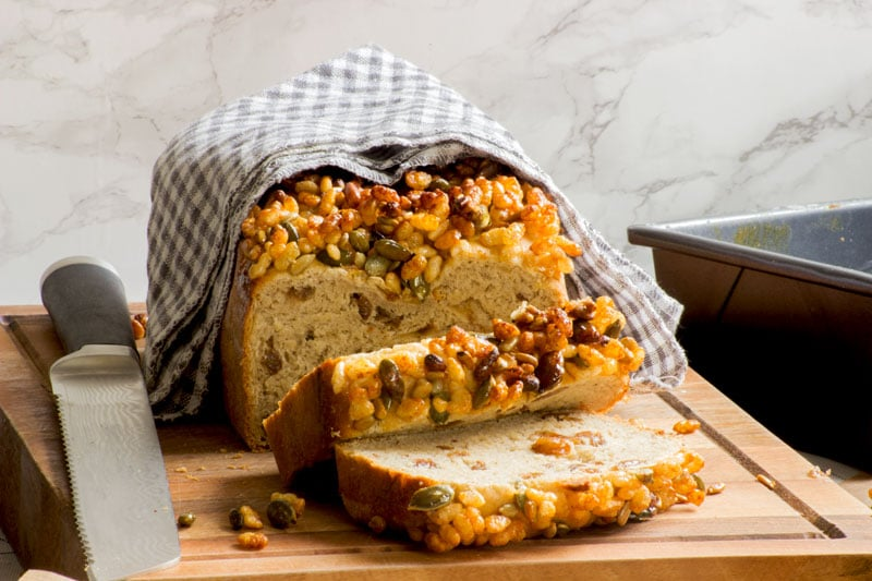 coconut milk and sultana breakfast loaf